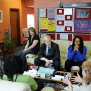 Boris visits RASASC before being elected pic: Sarah Whitehead