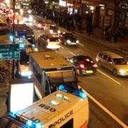 Police on Whitechapel Road pic: Adelle Kalakouti
