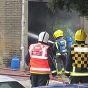 Firefighters control blaze Pic: Agnes Bel