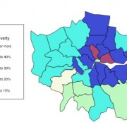 London map of child poverty