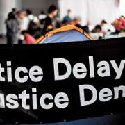 Occupy Justice have been in residence at the courthouse since December 20 pic: Dave W. Von
