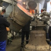 'Elizabeth' is cast at the Whitechapel Bell Foundry