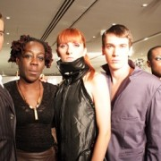 Zion poses post-show with her models. Pic: Irene Baque de Puig