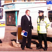 Metropolitan Police at Stanstead Road pic:Laurence Dodds
