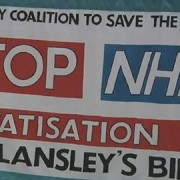 Hackney doctors and nurses braved the cold weather to protest NHS reforms Pic: Albert Steinberg