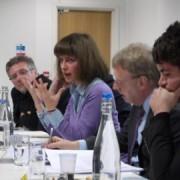 "Glenda Cooper debates the ""journalism crisis"" pic Raziye Akkoc"