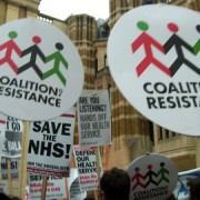 Protesters campaign against the NHS bill pic: East London Lines