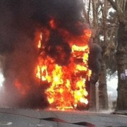The burning bus pic: Benjamin Ward