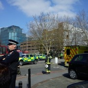 Scene at Croydon police station. Pic: Chloe Hirst