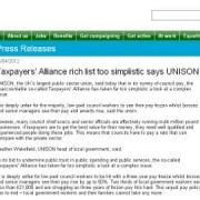 UNISON, the largest trade union representing public workers