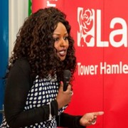 Amina Ali speaking at the launch of Tower Hamlets Somali Friends of Labour pic: www.danmccurry.co.uk