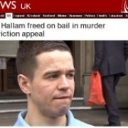 "Sam Hallam interviewed by the BBC on the day he witnessed the Court of Appeal quashing his murder conviction as ""unsafe."""