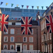Bunting out in Spitalfields Pic Louisa Plumstead