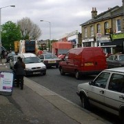Heavy traffic in Lewisham Pic: David Wright