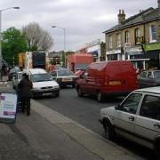Heavy traffic in Lewisham Pic: David Wright