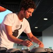 Bruno Zamborlin performs using Mogees pic: Olga Mascolo