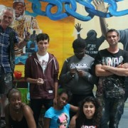 Young artists, their teachers and their mural