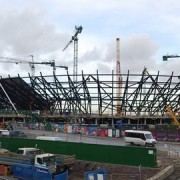 Olympic site under construction. Pic: Nigel Chadwick