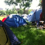 The Occupy camp, Pic: Emma-Jane Burgess