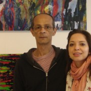 Carlos de Lins and Siomara Jubert at the Espacio Gallery in Bethnal Green. Pic: Leila Zerai