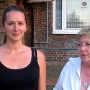 A mum and daughter of Colville Estate
