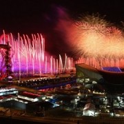 Fireworks light up the Olympic Stadium. Pic: LOCOG