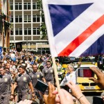 The Torch Passes Through Croydon. Pic randallmurrow.com