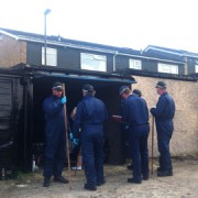 Police search bins at the Lindens Estate in New Addington. Pic: Emma Jane Burgess