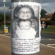 Poster in Croydon urging for help in the search for Tia Sharp. Pic: Emma Jane-Burgess