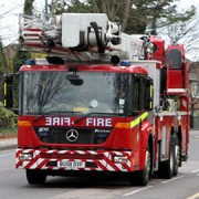 Eight fire engines and forty firefighters turned up at the scene to tackle the blaze. Pic: Google Images