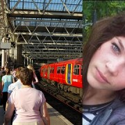 Pic: Daley and Waterloo station, where she was found. Pic: Metropolitan Police; Becky Pitzer