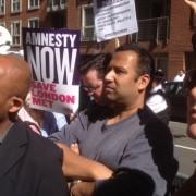 Demonstrators at the Home Office last week. Pic: EastLondonLines