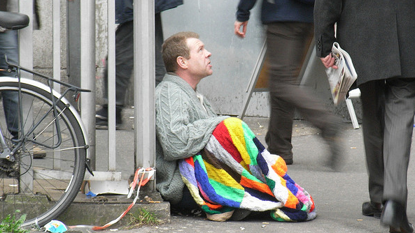 Homelessness. Pic: Jessica Mulley
