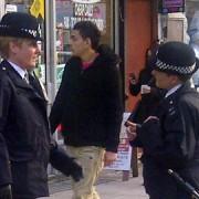 Police in Hackney. Pic: Sophie Robinson-Tillett