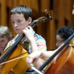 London Symphony orchestra player and a Discovery programme particpant. Pic: Kevin Leighton ©