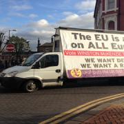 Campaign Van in Croydon Pic: Oscar Quine