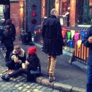 Jamie Oliver's Fifteen Christmas Market. Pic: Sasha Filimonov