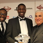 Jermain Jackman Spiri of London award. pic Tanya Roche