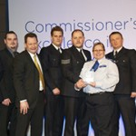 New Cross Safer Neighbourhoods Team At the Awards Ceremony.  Pic: Metropolitan Police
