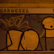Stik's figures off of Redchurch Street. Pic: Sasha Filimonov