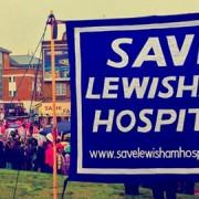 Protestors outside Lewisham Hospital on November 24. Pic: Save Lewisham A&E