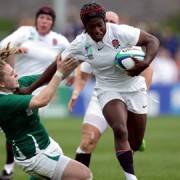 Alphonsi in action against Ireland. Pic: Rugby Football Union.