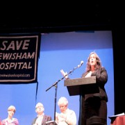 Heidi Alexander speaking against the closure of Lewisham A&E. Pic: Ellie Slee