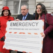 Joan Ruddock, Jim Dowd and Heidi Alexander submitting a petition to save Lewisham hospital to Downing Street in December. Pic: Thea Foslie
