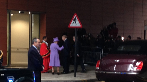 The Queen wearing lavender. Pic: Nazim Ahmad