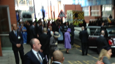 The Queen leaves the hospital. Pic: Nazim Ahmad