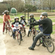 A BMX class in Mile End Park. Pic: Alan Dymock / Hugh McCafferty