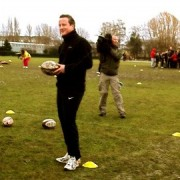 David Cameron in action. Pic: RFU