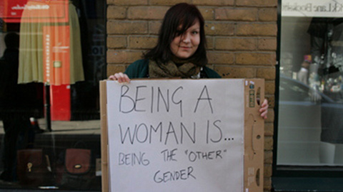 "Being a woman is: Being the ""other"" gender. Pic: Emma Rumney."