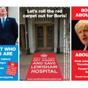 Boris Johnson. Pic: Save Lewisham A&E campaign